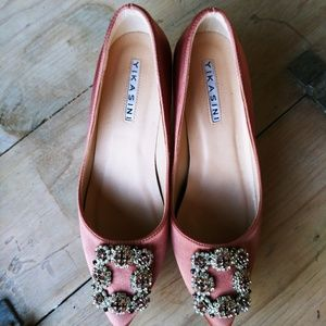 Rose Silk Formal/ Dressy Pumps